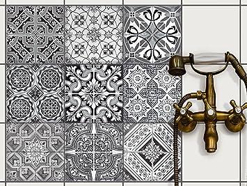 Fliesenmuster Deko Folie Fliesen   Klebefliesen Mosaikfliesen  Stickerfliesen | Fliesen Folie Sticker Aufkleber Badezimmer