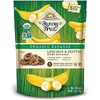 ORGANIC Chewy Dried Bananas - Sunny Fruit - (5) 1.06oz Portion Packs per Bag | Purely Bananas - NO Added Sugars, Sulfurs…