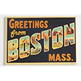 Greetings From Boston Fridge Magnet (2 x 3 inches)