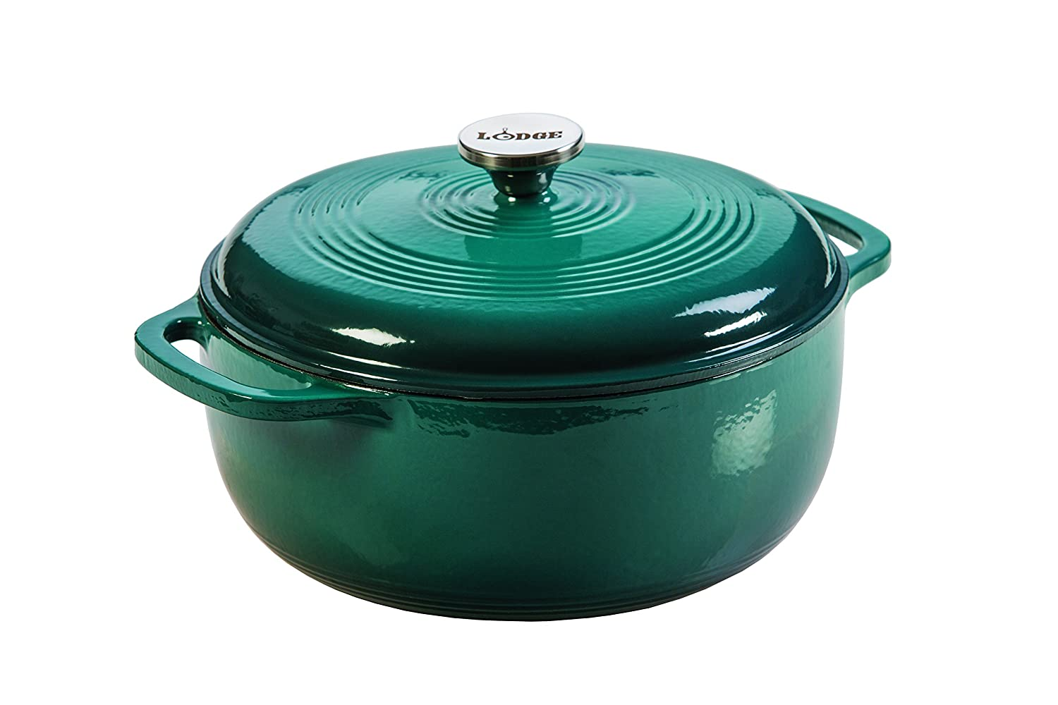 Lodge EC6D38 Enameled Cast Iron Dutch Oven, 6-Quart, Lagoon Lodge Manufacturing Company
