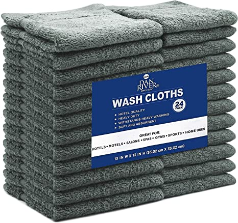 12 /& 18 FACE CLOTH TOWELS 100/% COTTON HEAVY WASH CLOTHS 500 GSM PACK OF 6