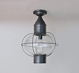 product image for Brass Traditions 613-GM Large Flush Mount Onion Lantern, Gun Metal Finish Flush Mount Onion Lantern