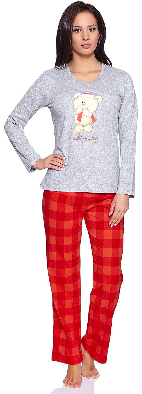 TALLA S. Cornette Pijama Conjunto Camiseta y Pantalones Ropa de Casa Mujer CR-655-So-Cold