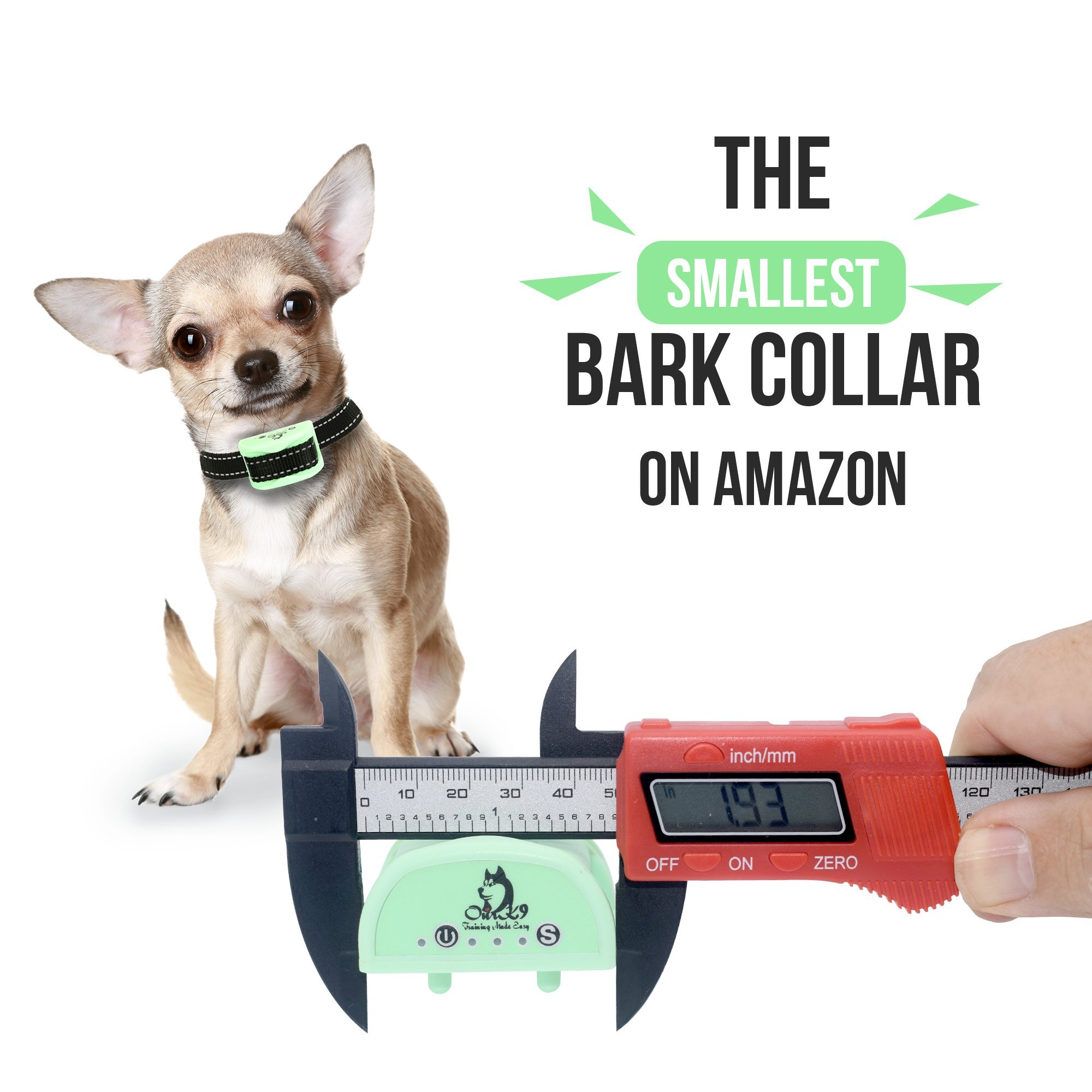 Our K9 Training Made Easy Vibration Bark Collar  for  Small Dogs -  No  Shock,  Pain Free  Control Device by Our K9 Training Made Easy