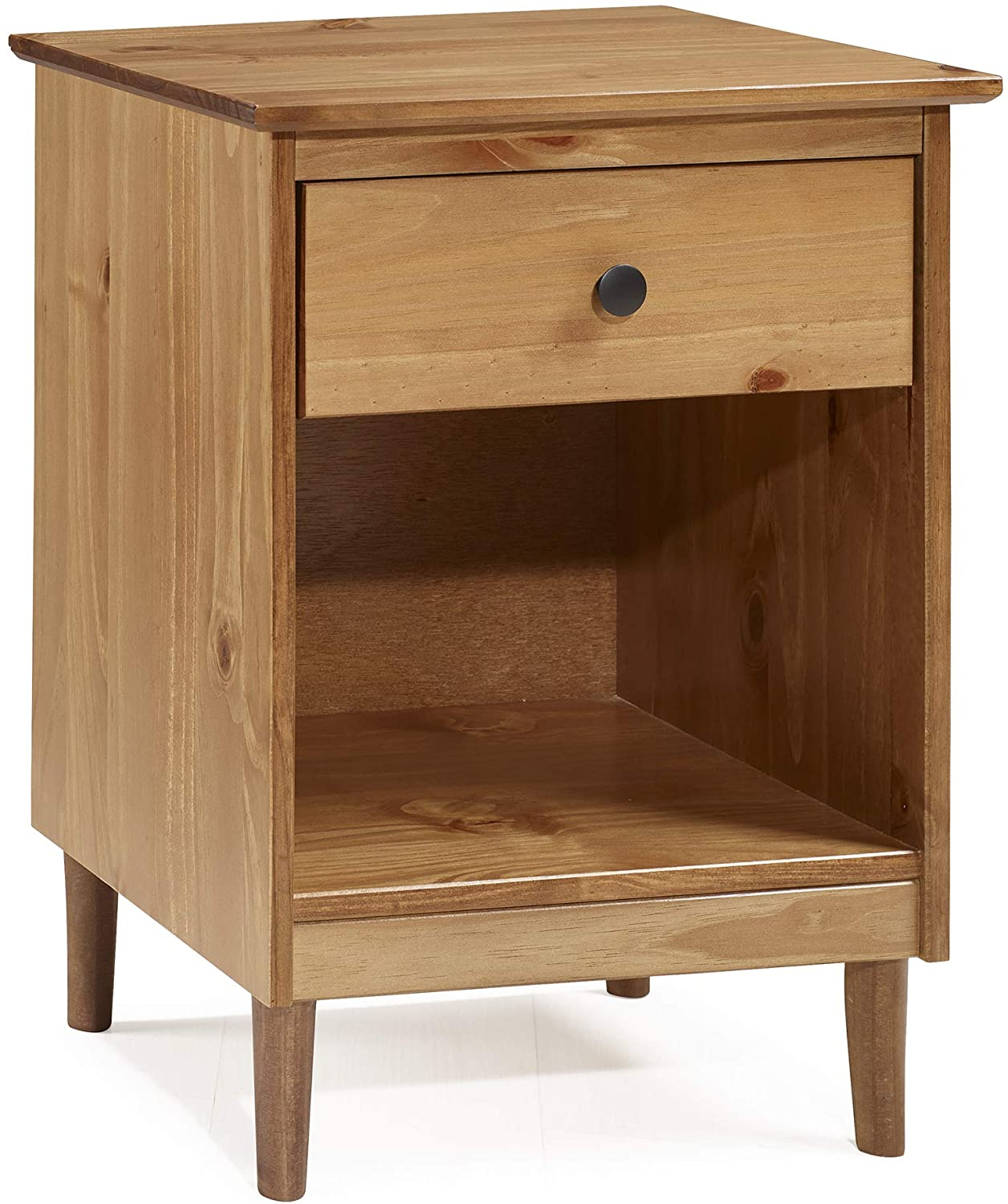 Eden Bridge Designs Classic Modern Nightstand Unit Cabinet With 1 Drawer Solid Pine Wood Mdf Plastic Metal Hardware Caramel Amazon Co Uk Kitchen Home