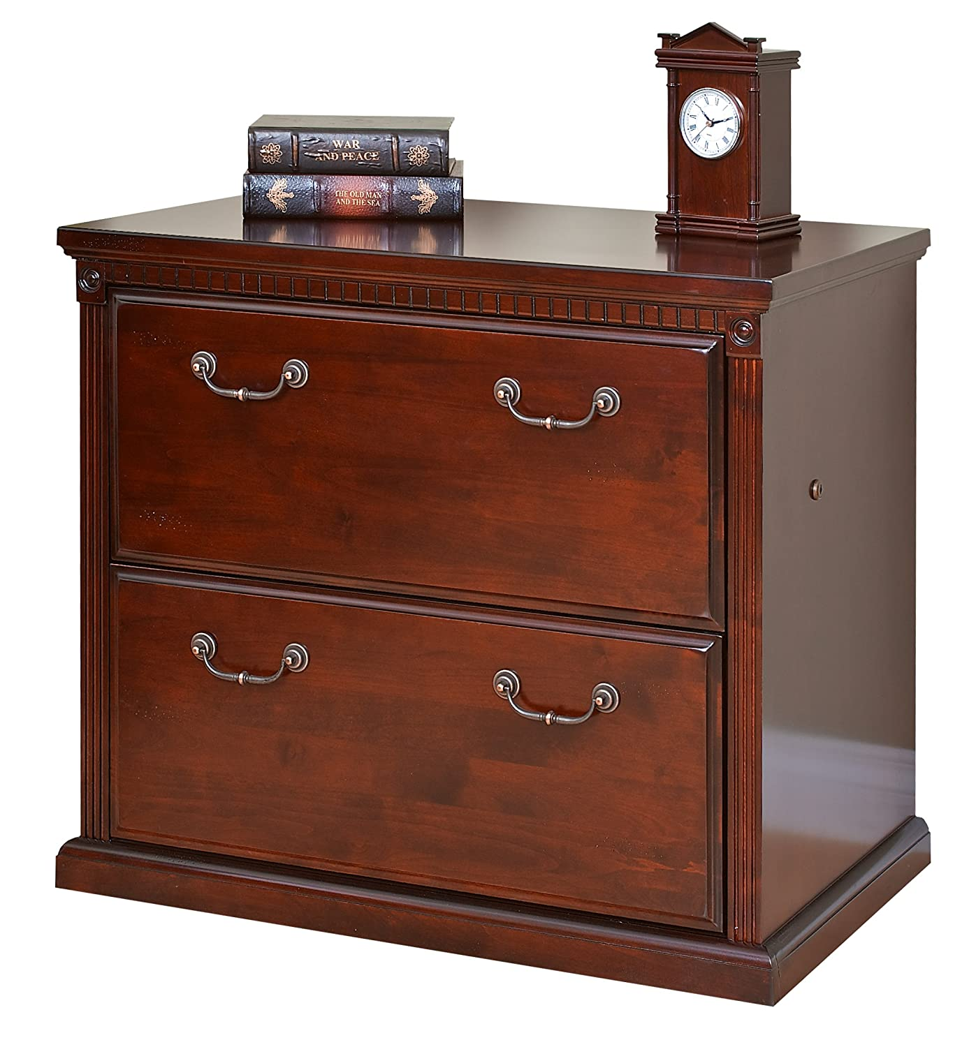 Amazon.com: Martin Furniture Huntington Club Office 2 Drawer Lateral File  Cabinet: Kitchen U0026 Dining