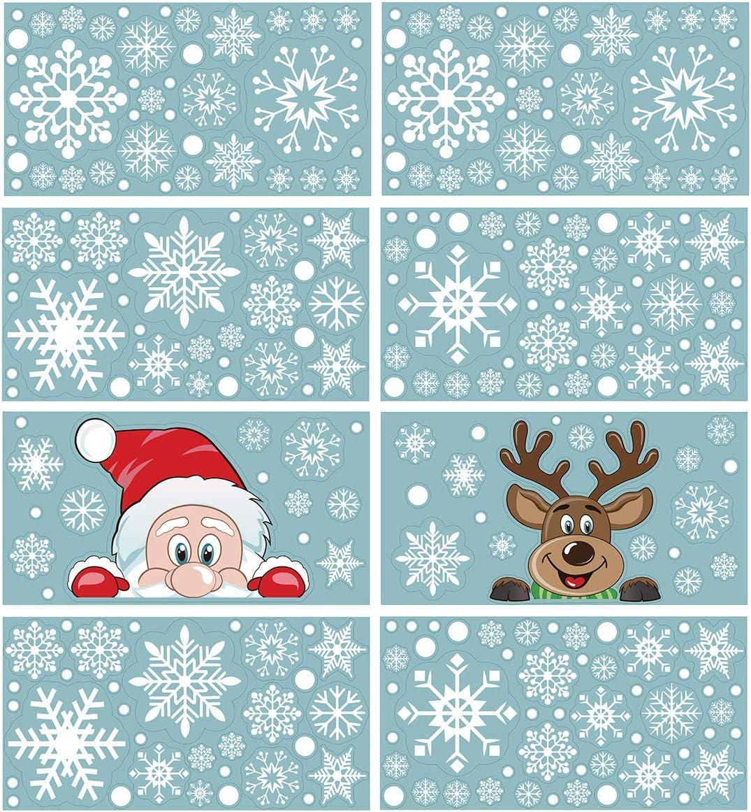 CCINEE Christmas Snowflake Window Cling Stickers