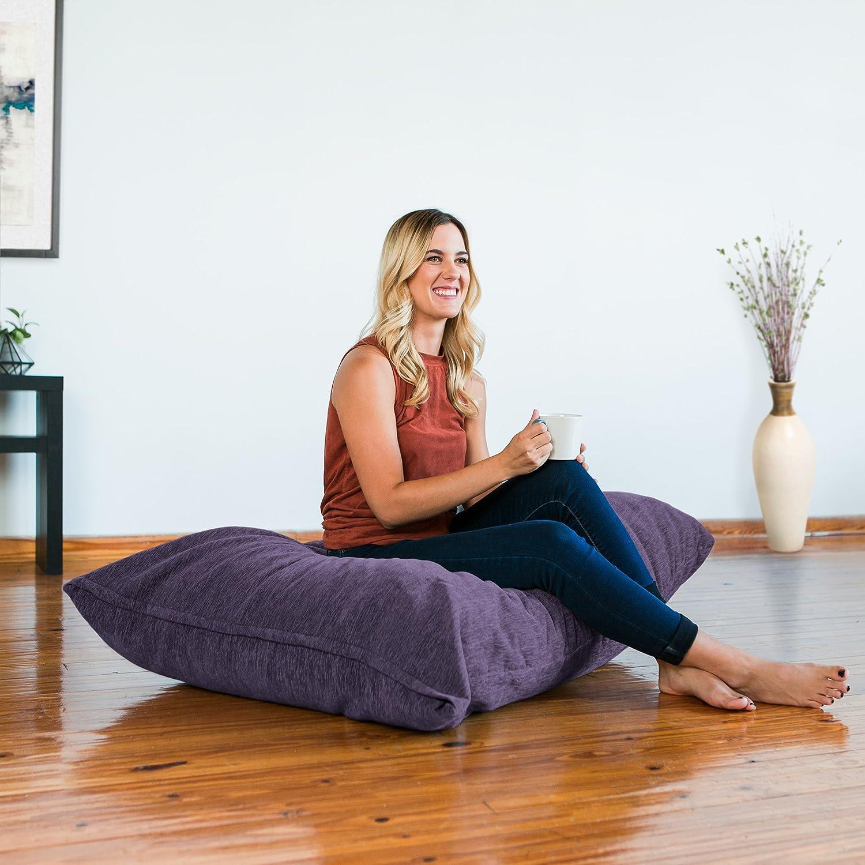 Jaxx Pillow Saxx 3.5 Foot Giant Décor Floor Pillow, Premium Chenille Cover, Beige 17582