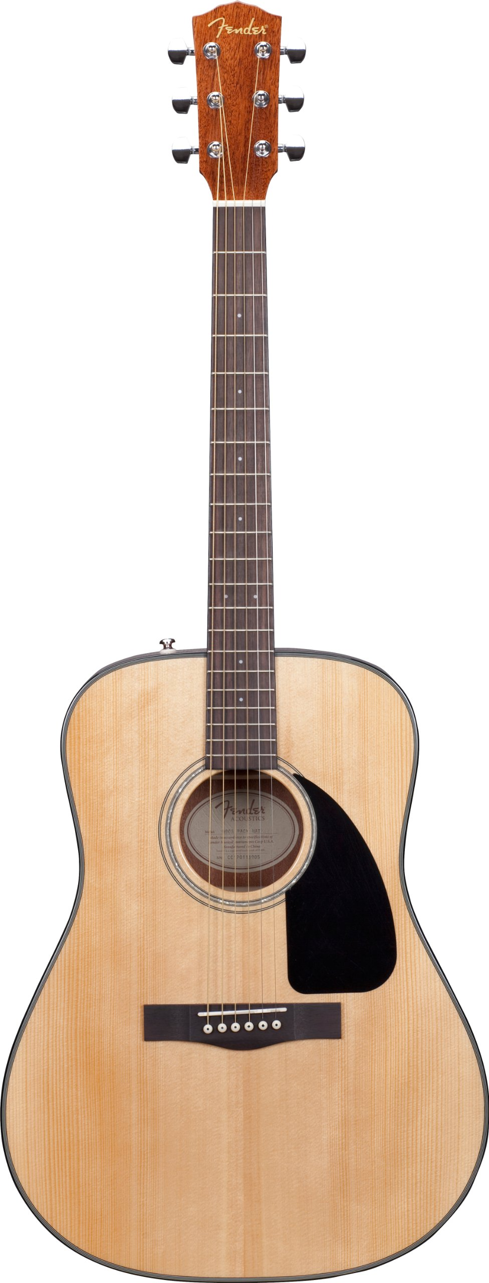 Fender DG-8S Solid Spruce Top Dreadnought Acoustic Guitar Pack with Gig Bag, Tuner, Strings, Picks, Strap, and Instructional DVD  - Natural by Fender
