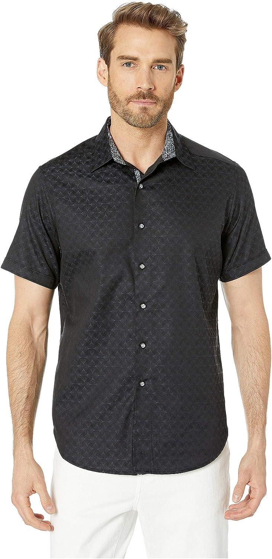 Robert Graham Mens Diamante Short Sleeve Classic Fit Shirt