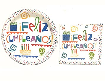 Amazon.com: Feliz Cumpleanos Spanish Happy Birthday Party ...