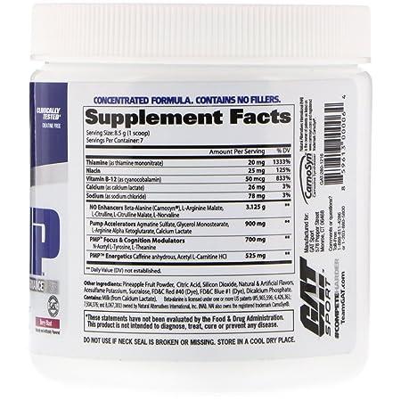 GAT PMP Pre-Workout Peak Muscle Performance Berry Blast 2 09 oz 59 5 g