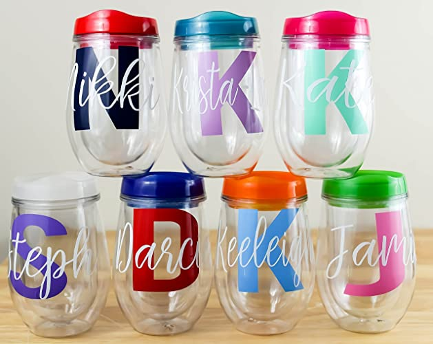 Personalized Wine Tumbler Stemless Wine Glass Tumbler