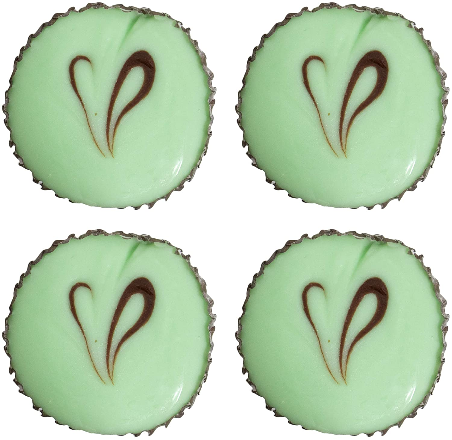 Made in USA 1 lb Artisan Creamy Mint Chocolate Fudge Cups (Pack of 4)