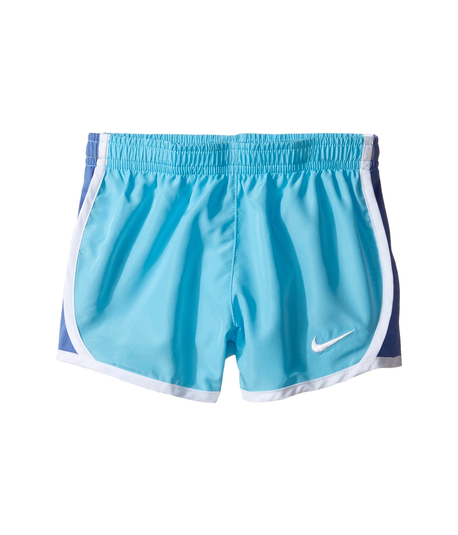 NIKE Girls' Dry Tempo Running Shorts (Vivid Sky(267358-B8Y)/White, 3T)
