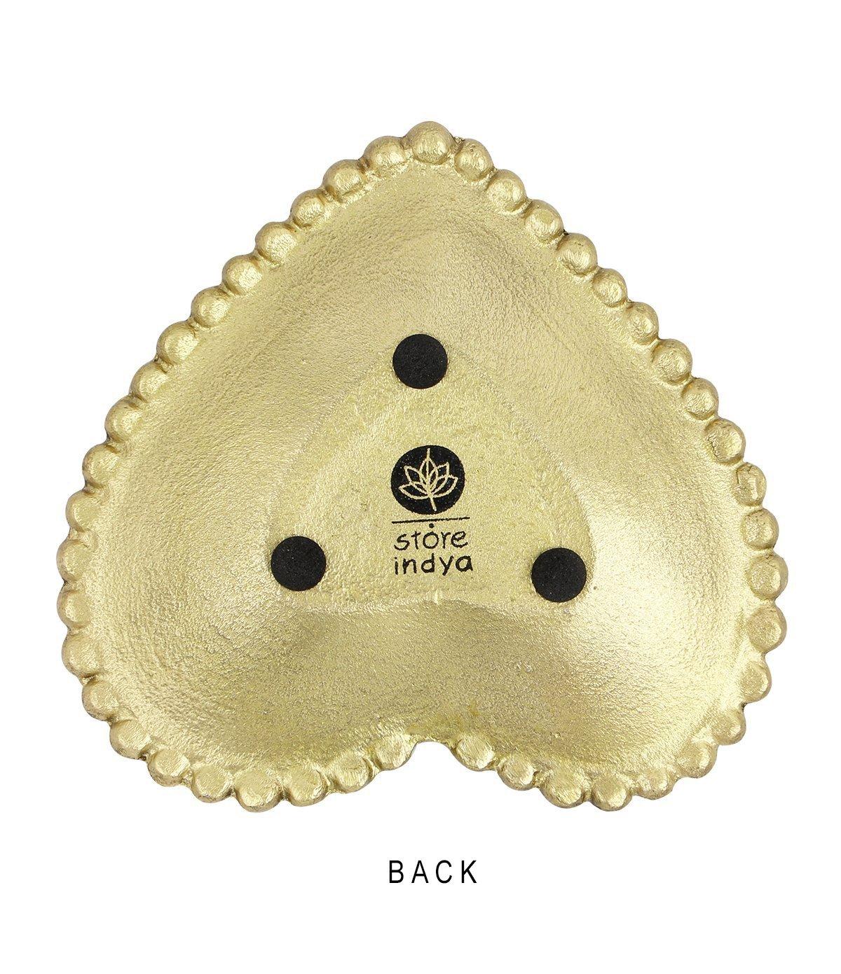 Heart Store Indya Handcrafted Trinket Dish Accessories Decorative Jewelry Dish Kitchen Dinning Serveware Accessories