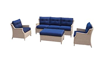 Amazonde Büloo Polyrattan Gartenmöbel Lounge Set Sitzgruppe Mit 2