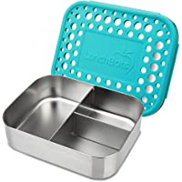 LunchBots Trio 2 Stainless Steel Lunch Container, 3 Section, Holds 1/2 Sandwich and Sides