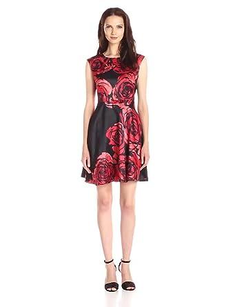 Short black flare dresses