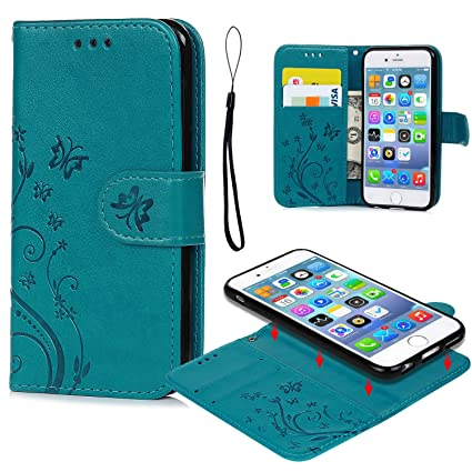 Amazon.com: iPhone 6 6S Caso, iPhone 6 6S Funda tipo ...
