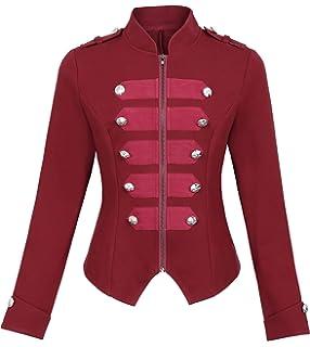 8b0509368e Kate Kasin Womens Victorian Steampunk RingmasterJacket Military Blazer KK464