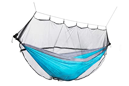 Camping Hammock Mosquito Bug Net: Lightweight Breathable Mesh Netting    Insect Repellent Tent With Strong