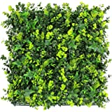 "ULAND Artificial Hedges, Greenery Boxwood Shrub Plant Wall Backdrop, Outdoor Garden Fence Decoration, Pack of 6pcs 20""X20"""