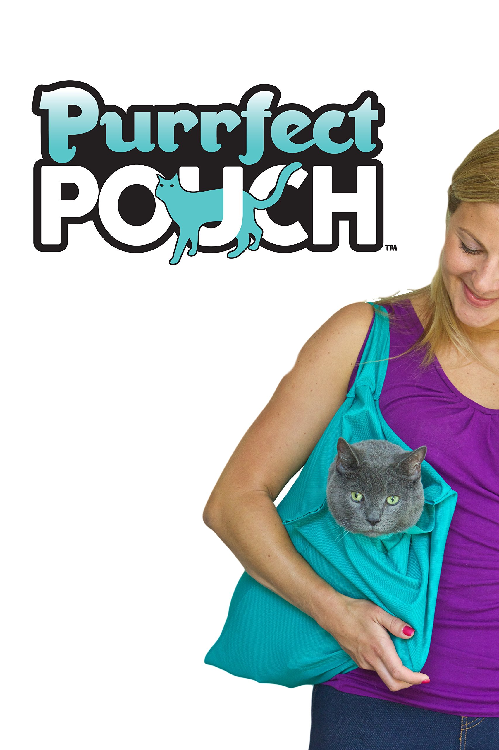 PURRFECT POUCH The Original AS SEEN ON TV. The Comfy Cat Carrier Sling & Grooming Sack in One (Set of 2) Washable and…