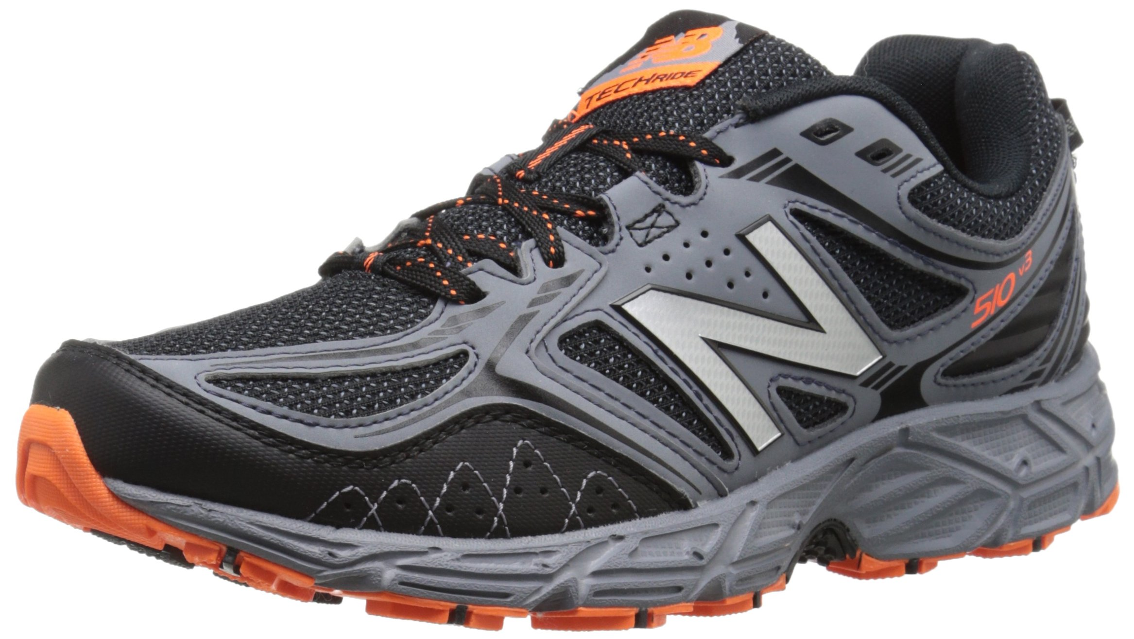 New Balance Men's 510v3 Trail Running Shoe, Black/Grey, 12 4E US by New Balance