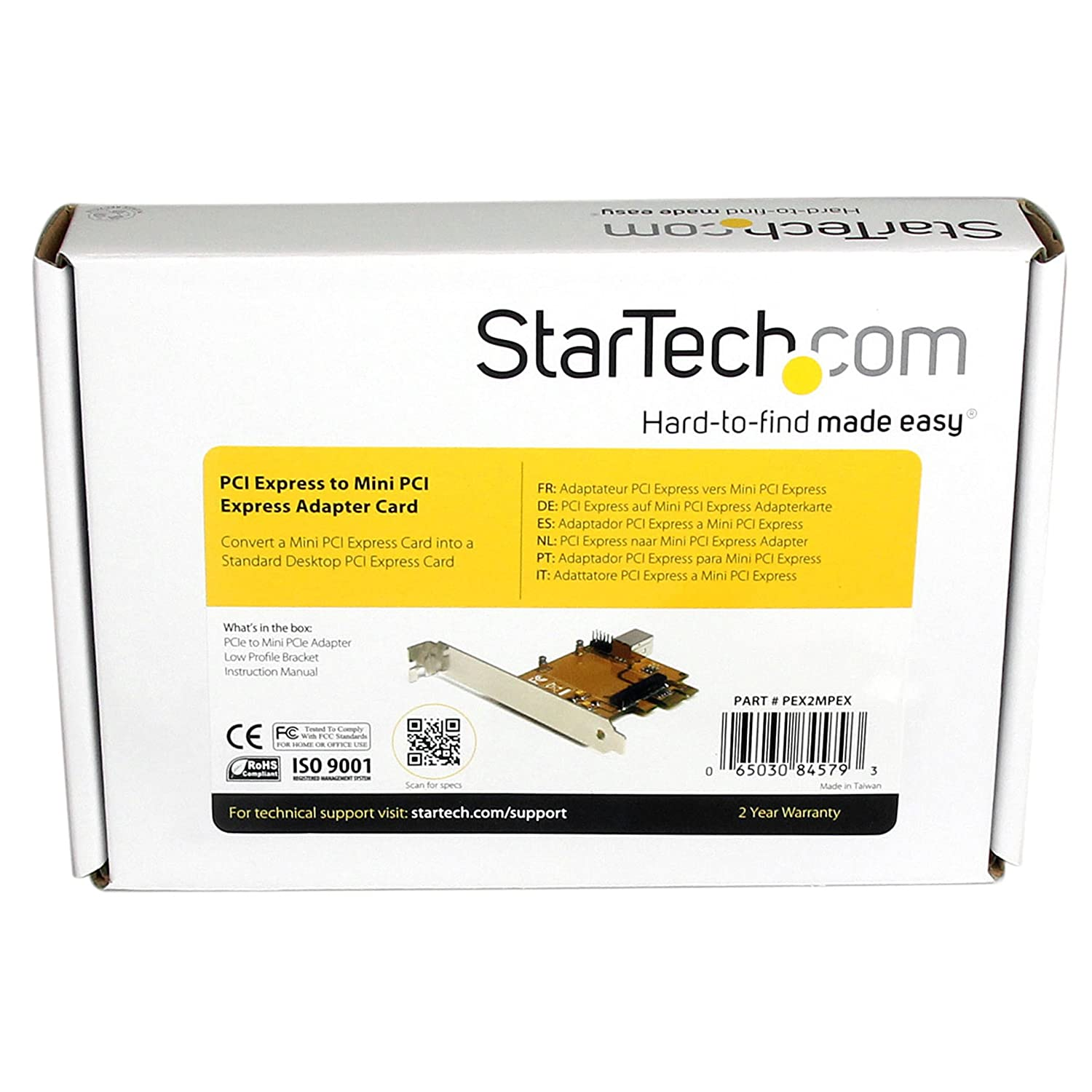 StarTech.com PCI Express to PCI Adapter Card PCIe to PCI Converter Adapter with Low Profile//Half Height Bracket
