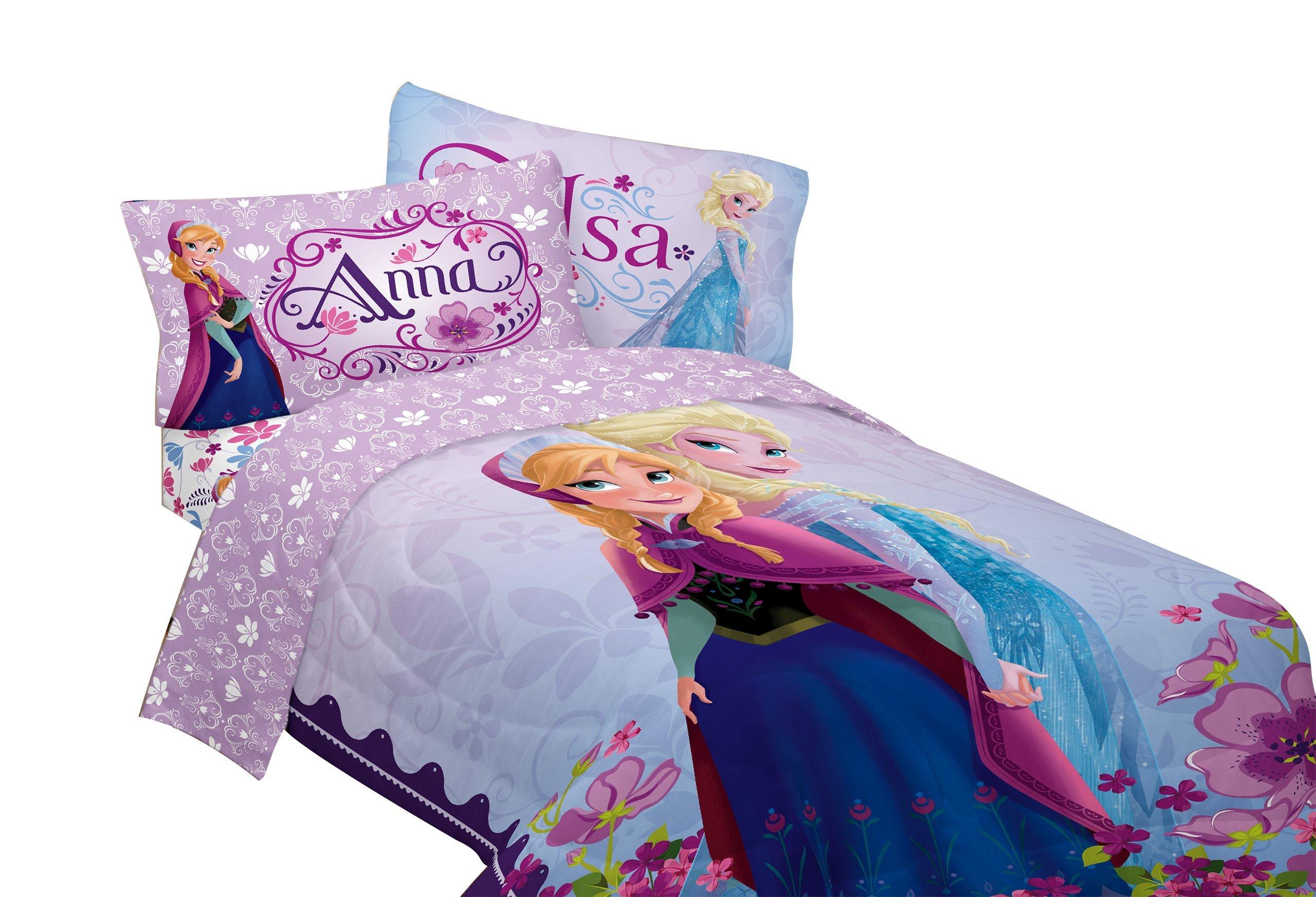 Disney Frozen Celebrate Love 76-Inch by 86-Inch Microfiber Reversible Comforter, Full