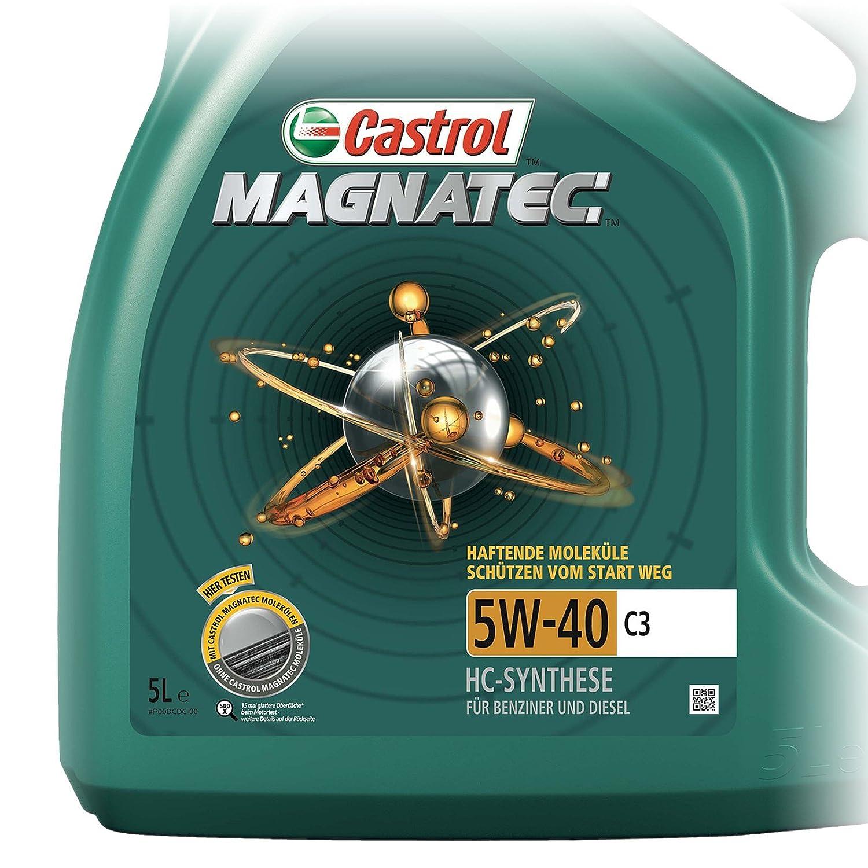 aceite de motor CASTROL MAGNATEC 5W-40 C3 en garrafa de 5 litros