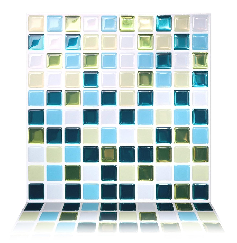 Amazon.com: Tic Tac Tiles Premium Anti-mold Peel and Stick Wall ...