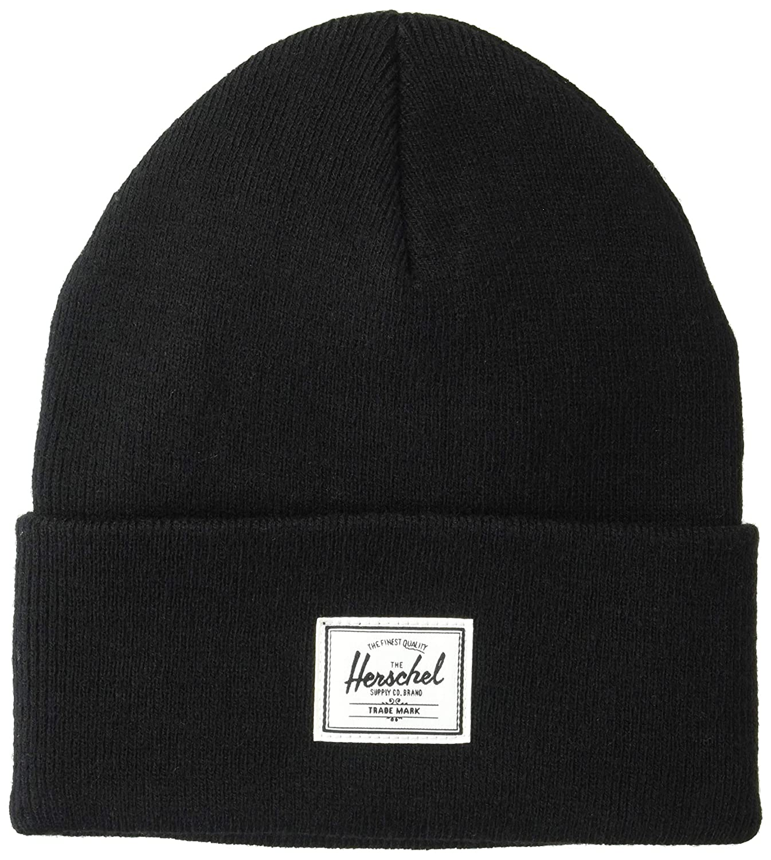 7edf6995 Herschel Supply Co. Men's Elmer Beanie, Black, One Size at Amazon Men's  Clothing store: