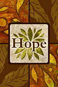 Toland Home Garden Amber Hope 28 x 40 Inch Decorative Inspirational Fall Autumn Leaves Double Sided House Flag
