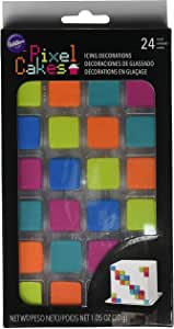 Wilton Pixel Cakes Icing Decorations, 24 count