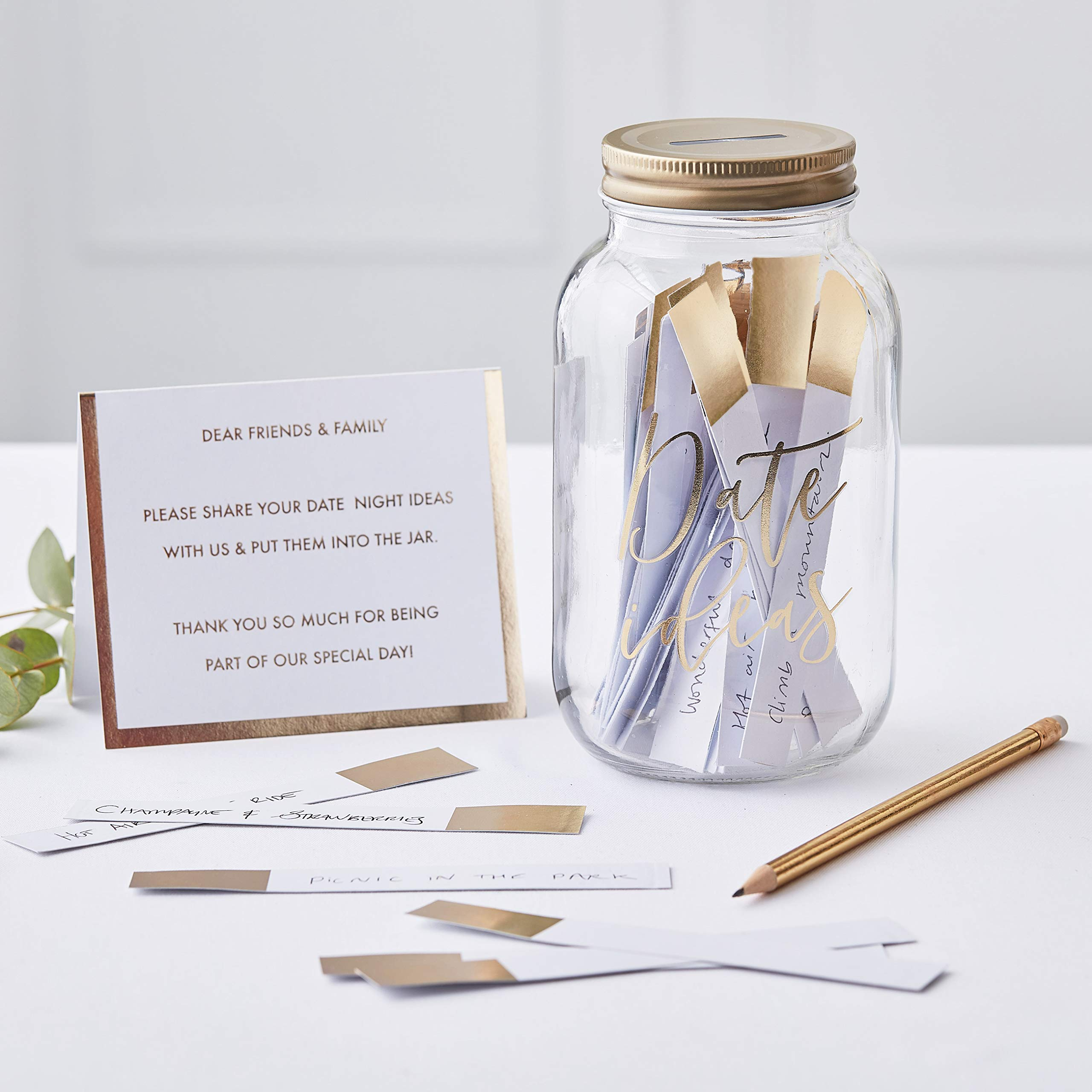 Ginger Ray Gold Wishing Date Jar Guest Book Alternative Decoration Gift Gold Wedding Buy Online In Guernsey At Guernsey Desertcart Com Productid 110650343