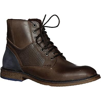 Versace 19V69 Croco Boot Men, Bottes Pour Homme - Marron - Marron Foncé, 44 538cec5c365