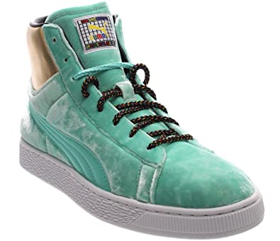 more photos 33196 0ffe6 PUMA Mens Dee & Ricky Basket Mid Casual Sneakers,