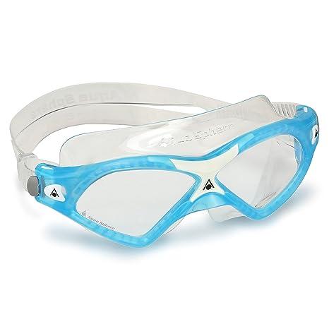 59fed13cbac3 Amazon.com   Aqua Sphere Seal XP2 Swimming Goggles - Aqua White - Clear Lens    Sports   Outdoors