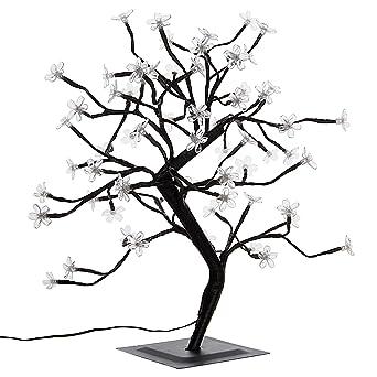 Led Weihnachtsbeleuchtung Baum.Nipach Gmbh 64 Led Baum Mit Blüten Blütenbaum Lichterbaum Weiß 45 Cm