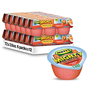 Mott's Mighty Strawberry Peach Applesauce, 3.9 oz cups (Pack of 72)