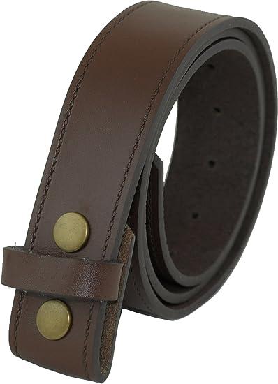 HC Damen Herren hochwertiger Lederg/ürtel aus B/üffelleder mit Druckknopf