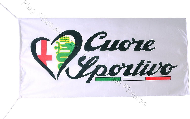 AL-FA Romeo Cuore Sportivo Flag Banner 2.5 X 5 ft