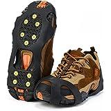 Tacchetti di trazione per scarpe Topnaca, per presa su ghiaccio e neve, punte in gomma antiscivolo, ramponi a chiodi per trekking, backpacking, caccia, escursionismo