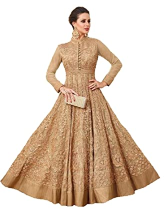 Ready Made New Designer Long Gown Type Anarkali Fashion Dresses for ...