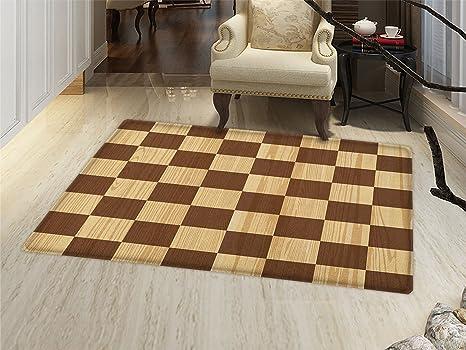 Amazon Checkered Bath Mat Non Slip Empty Checkerboard Wooden