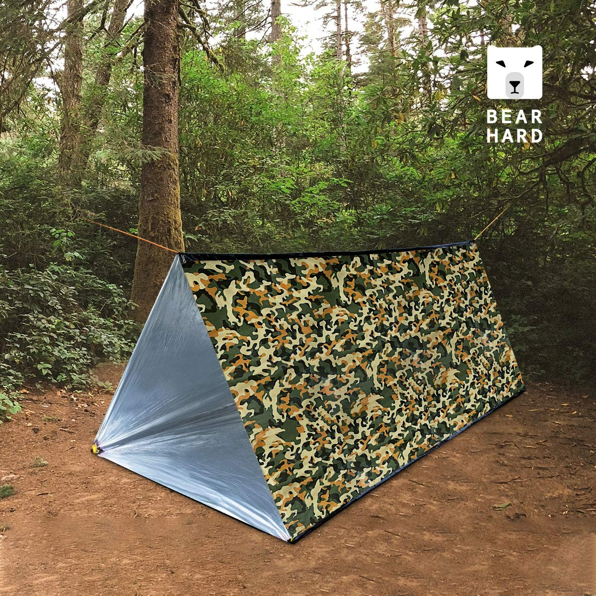 NASA Survival or First Aid Hiking Bearhard Emergency Tent Large Lightweight Compact Rescue PE Tube Tent Foil Survival Tent Shelter for Camping Outdoor