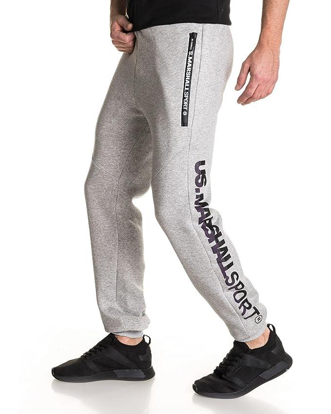 70fc9d273da7a US Marshall - Bas de Jogging Molleton Gris Logo - Couleur: Gris - Taille:  XXXL: Amazon.fr: Vêtements et accessoires
