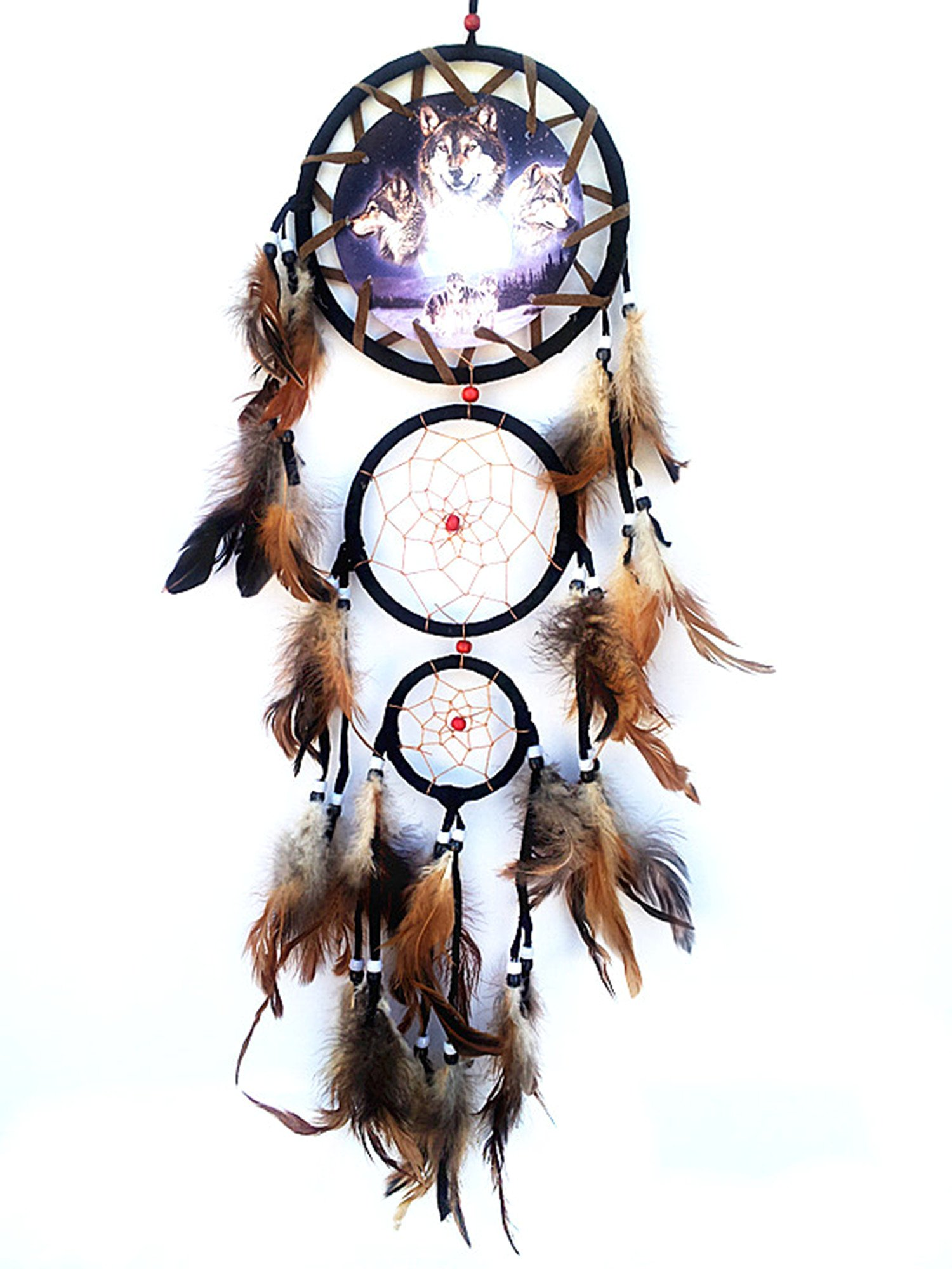 Handmade Dream Catcher with Feathers Wall Hanging Decor Ornament (With Betterdecor Gift Bag)-3W
